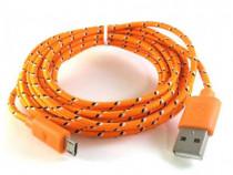 Cablu Date si Incarcare Micro Usb Cablu Galben C206