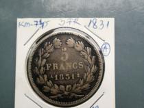 Monede 5 franci 1931,32,34,35