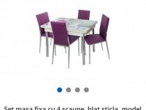 Masuta sticla+4 scaune+ sifonier sigilate