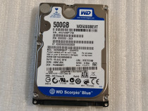 Hard Disk Laptop WD Scorpio Blue WD5000BEVT 500GB, 5400rpm