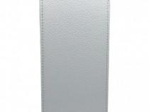 Husa Telefon Vertical book HTC One M9 white BeHello