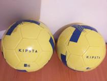 2 mingi de fotbal, noi, din piele