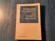 Probleme filosofice ale stiintei militare