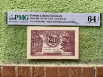 Bancnota 2 lei 1938 gradata UNC
