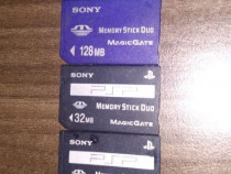4 Carduri Memory Stick Duo 512mb, 128mb, 2x 32mb Sony Sandis