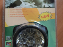 Lanternă frontală / HeadLamp 9 LED mare intensitate + bonus