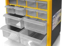 Cutie de depozitare, organizator 265x160x235mm 12 sertare