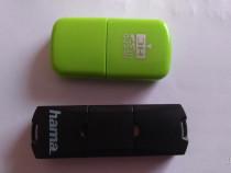 Cititor carduri microSD microUSB si USB 2.0 Hama cu bonus