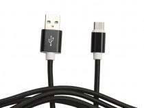 Cablu Date si Incarcare Type C Cablu Panza Negru C200