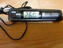 Termometru digital dual(int.+ext.) precizie & ceas +bonusUSB