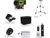 Nivela Laser 16 Linii Verzi 4D Accesorii + Trepied Reglabil