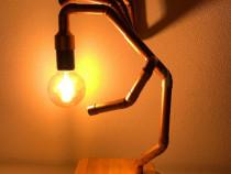 "Lampa / Veioza de birou din teava de cupru ""Crazy Phalanges"""