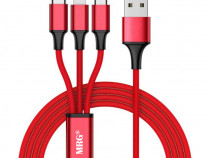Cablu date si incarcare, 3 in 1, MicroUSB, Lightning c533