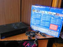 Play Station 2 cu cablu priză și cablu TV