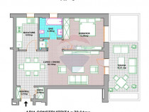Apartament 2 camere cu terasă de vânzare ultracentral