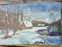 Tablou iarna Tărâm de poveste 1984