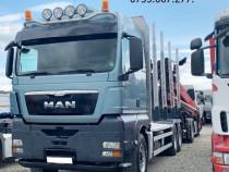 Camion forestier 6x4 MAN an 2014 macara Z+leasing