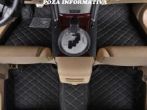 Covorase auto LUX PIELE Porsche Cayenne neru cu rosu sau be