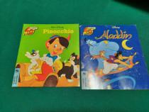 Lot 2 cărți editura egmont: aladdin, pinocchio/ 1997