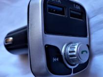Car kit auto cu MP3 bluetooth, modulator FM, handsfree, inca