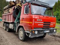 Transport lemn pe drumuri forestiere 6x6