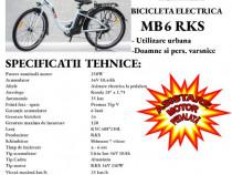 Bicicleta electrica City RKS MB6, motor 250W, 36V 10.4Ah Li-