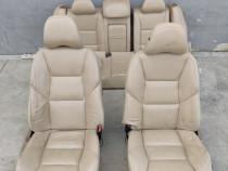 Interior scaune si bancheta piele crem Volvo S60 2002-2009