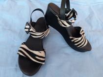 Sandale platforma La compania natural din piele mas 38
