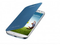 Husa Flip Originala Samsung S4 Albastra - EF-FI950BLEGWW