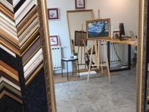 Oglinda decorativa perete, rama lemn stil Clasic,60x160x5cm