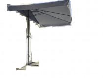 Umbrela 230*130*260 cm, cu manivela, Gri, NOUA