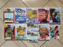 Wii: Mario, Just Dance, Zumba, Toy Story Mania, Wii Sports