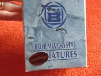 Vintage cristal de Bohemia, miniatura de colectie-cadou rar