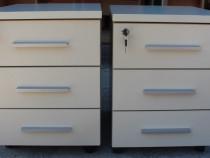 2 buc. Rollbox cu sertare si cheie; Dulapior de birou; Cub