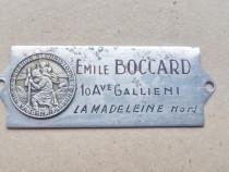 C906-Reclama veche Emille Boccard cu Sf. Christofor cu Prunc
