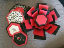 Explosion box hexagonal hand made unicate