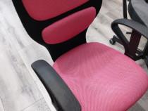 Scaun birou fete roz