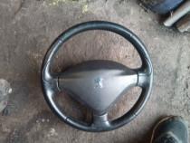 Volan piele Peugeot 207 complet cu airbag