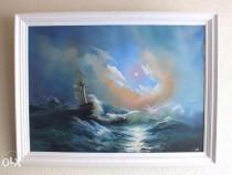 Tablou reproducere dupa Furtună Noaptea de Ivan Aivazovsky