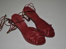 Sandale piele rosii