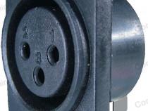Conector XLR mama, fixare pe panou - 122267