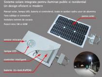 Iluminat public stradal cu panouri solare 12W