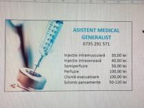 Injectii la domiciliul pacientului