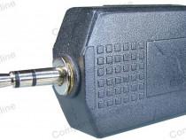Adaptor jack tata 3,5 mm stereo-2 x jack mama 6,3mm-126658