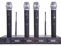 Microfon UHF Azusa PLL-400 4 canale ,4 microfoane de mână