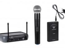 Microfon Azusa JS-268V 2 canale 1 microfon mână și 1 clip