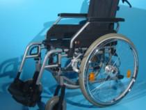 Carucior handicap pliabil scaun cu rotile