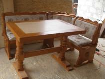 Coltar de bucatarie cu masa lemn masiv