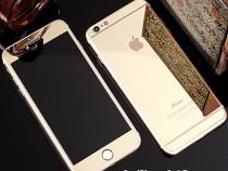 Folie Sticla iPhone 6 6s Tunning Auriu Oglinda Fata+Spate