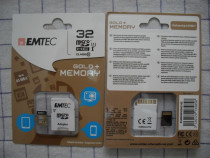 Emtec gold, germania, card microsd cu adaptorsd, capacitate